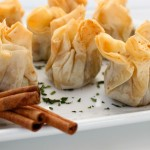 Andouille Sausage & Mint Phyllo Purses