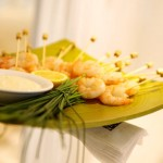Roasted Shrimp Skewers with Garlic Cream